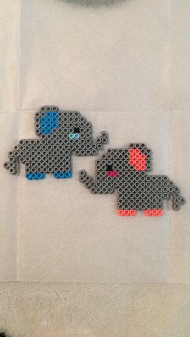 DIY bead embroidery kit Tiny Baby Elephant stitching beading beaded painting