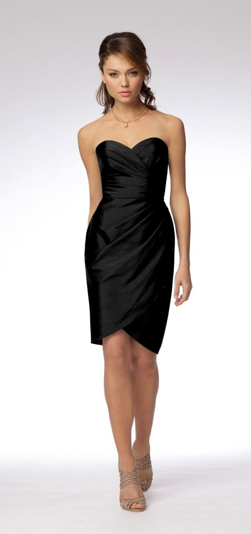 Black sweetheart strapless short graduation dress my style