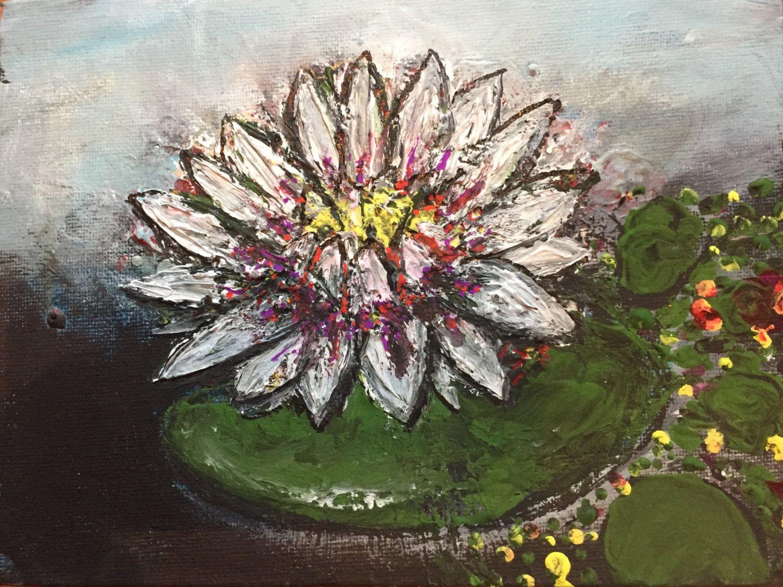 Lotus Flower Painting Acrylic Art Fine Art Lotus Painting