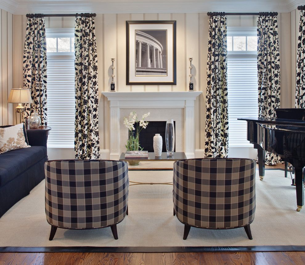 Black and white checked curtains - Pretty Buffalo Check Curtains In Living Room Contemporary With Curtain Panels Next To Living Room Setting