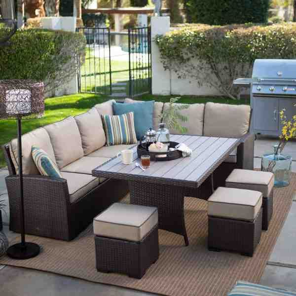 Outdoor Sectional Dining Furniture Patio Decor Outdoor Patio