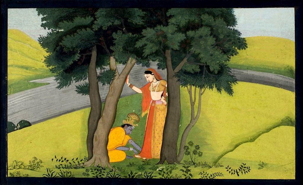 After a Night of Lovemaking, Radha Asks Krishna to Place