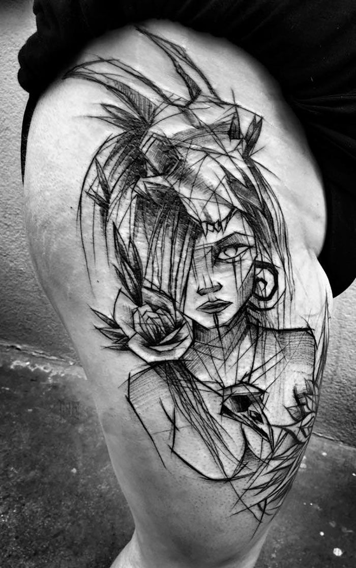 8fffee69c Polish Tattoo Artist Shows The Beauty Of Imperfection With Her Sketch  Tattoos (10+ Pics)