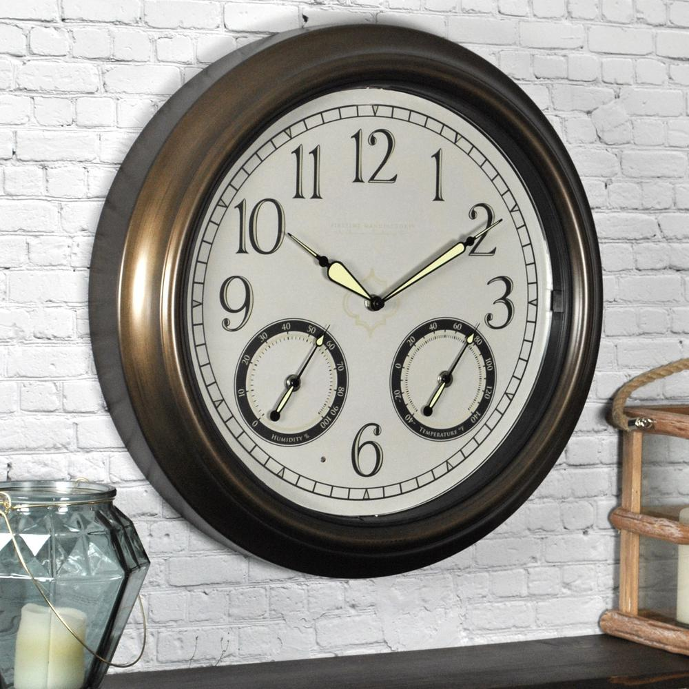 Firstime in round led trellis outdoor wall clock pinterest