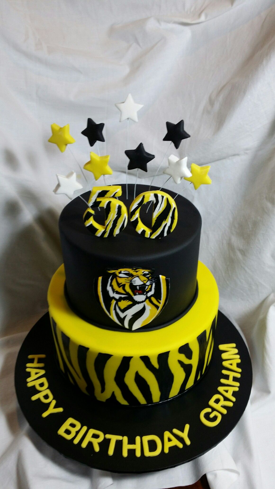 Richmond Tigers Mud Cake Made By Me Pinterest Cake Birthday