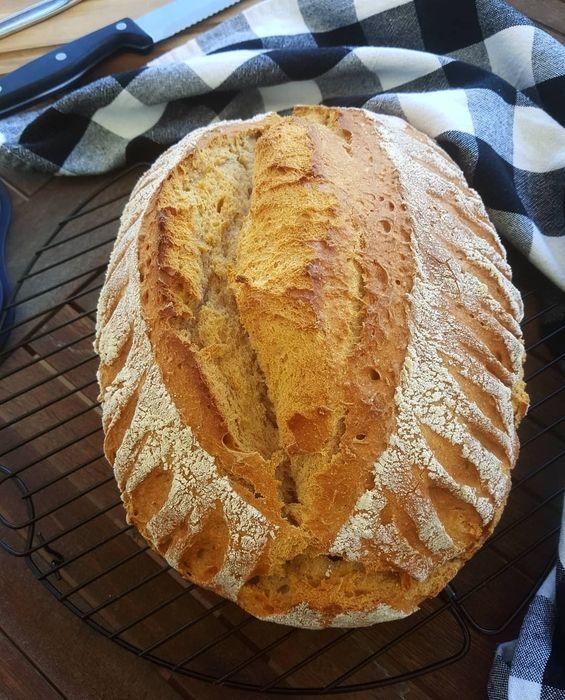 La mejor receta para pan crujiente de masa madre ahumada con instrucciones fotográficas puede ser …