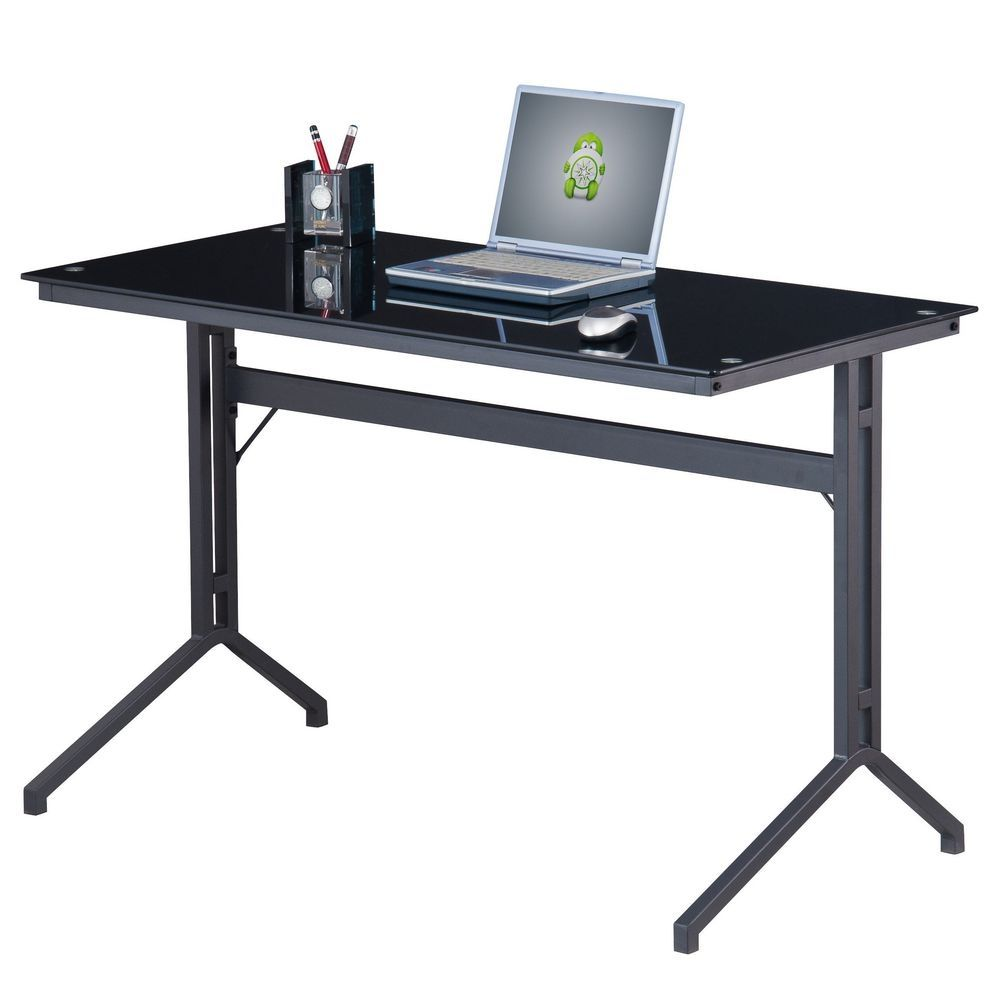 Staples Black Gl Top Desk If You Re Seeking A Much More Modern Look For The Office May Need To Consider Large V