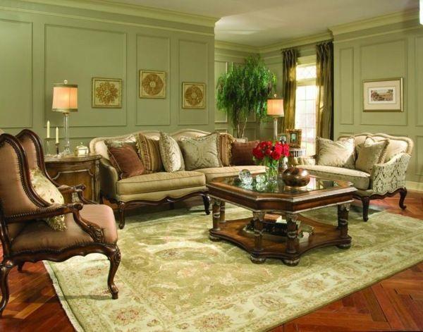 Elegantes Wohnzimmer Viktorianische Inneneinrichtung