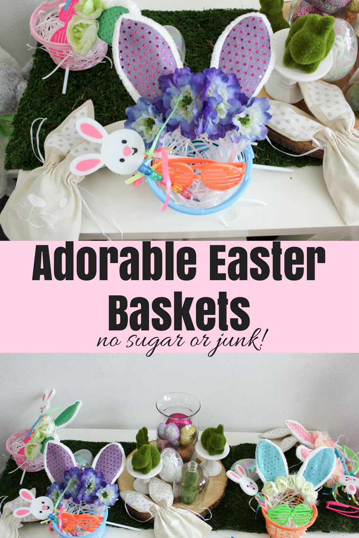 Easter bunny baskets including fairy wand flower crown and glasses easter bunny baskets including fairy wand flower crown and glasses no sugar negle Image collections