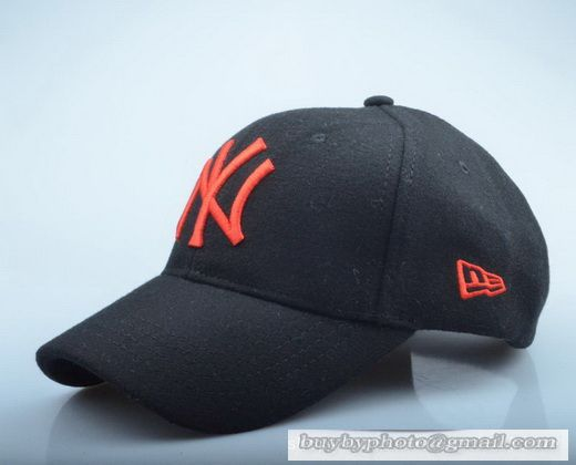 New Era MLB New York Yankees Baseball Cap Autumn Winter Thick cap Wool hat  Outdoor Sports Caps Black Orange 3c7d8e5cfb84