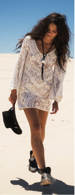 SPELL AND THE GYPSY COLLECTIVE FLEETWOOD LACE MINI DRESS CREAM $279- CALL SPLASH TO ORDER 314-721-6442