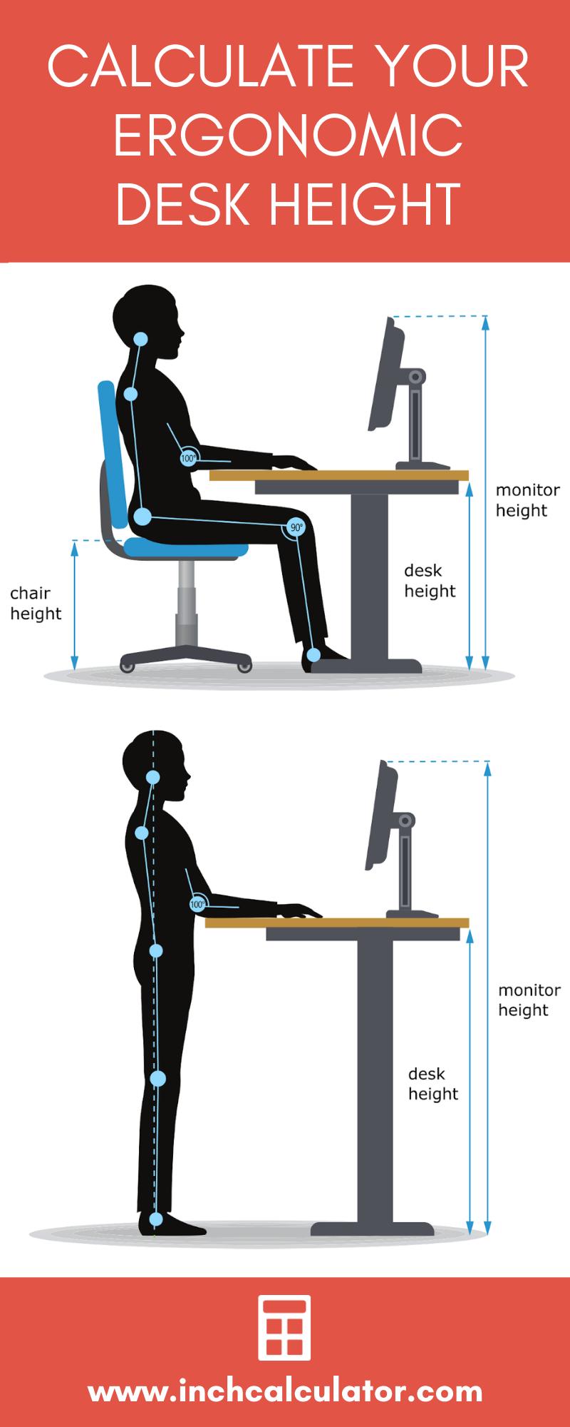 Desk Height Calculator Inch Calculator in 2020 Desk