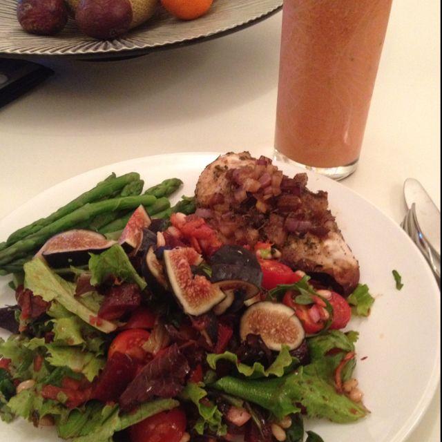 Yummy healthy dinner after a 90 min bikram yoga session