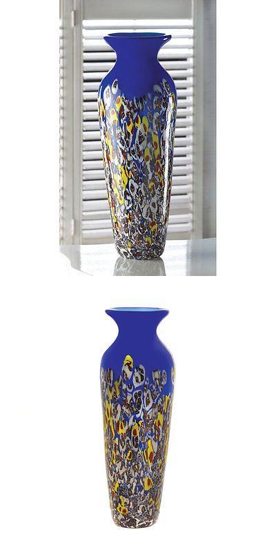 Vases 101415 Royal Blue Art Glass Vase Buy It Now Only 3667