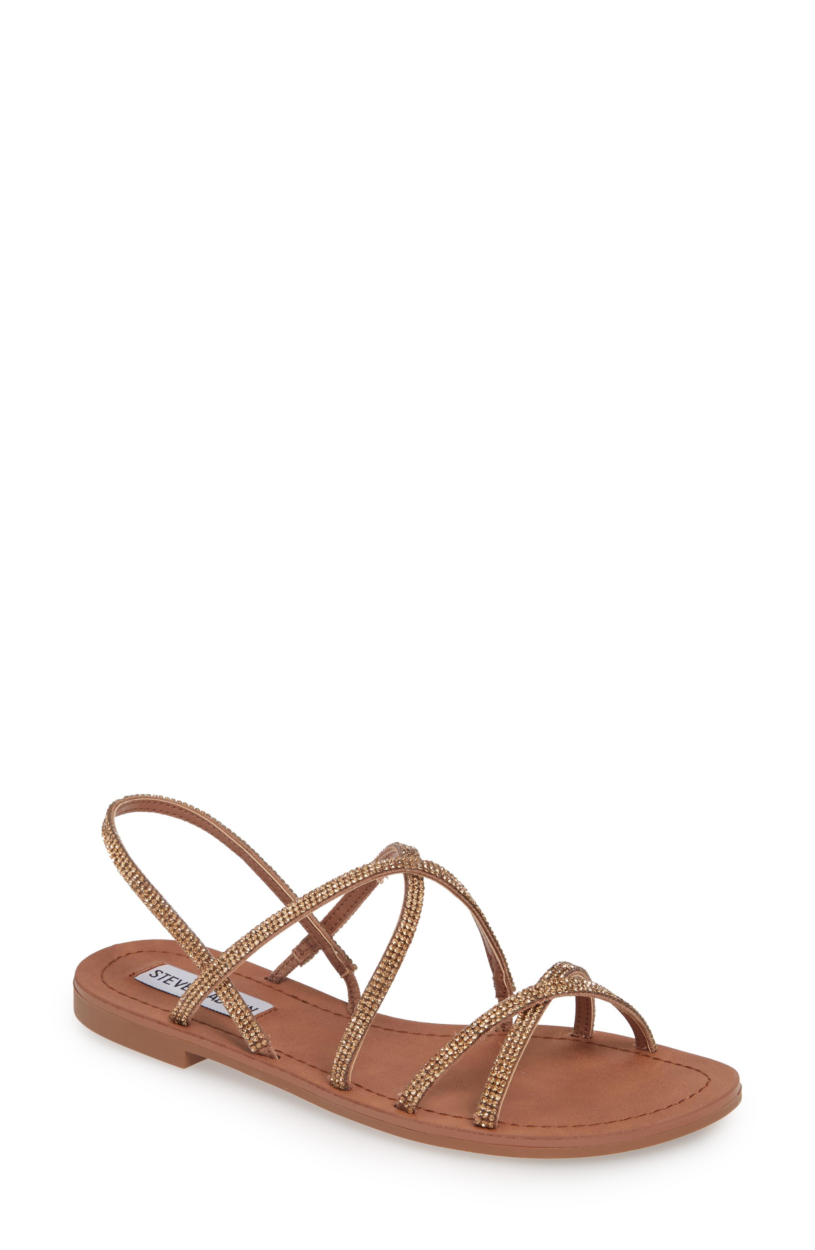 50bf85761ab Women's Steve Madden Rita Embellished Strappy Sandal, Size 5.5 M ...