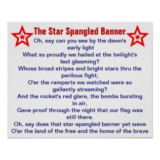 National Anthem Learning Activity Star Spangled Banner Star