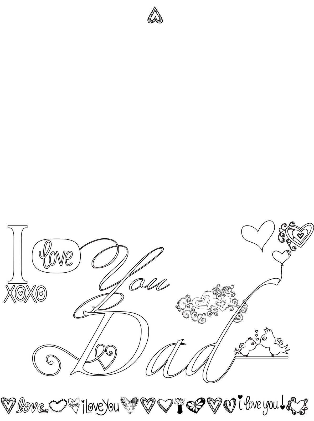 I Love You Dad Fathers Day Card Adult Coloring Page Free 02e35752ec50a24c00ad140376958d6c 787144841094925928 Parents Colouring Pages On