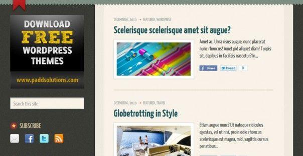 WordPress Theme: Arsenicity | • Free Blog Designs • | Pinterest