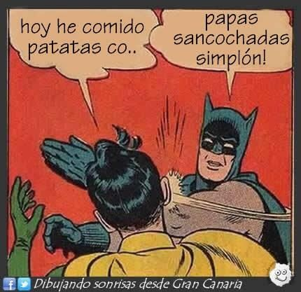 #TuFraseCanaria papas sancochas @dibusonrisasgc