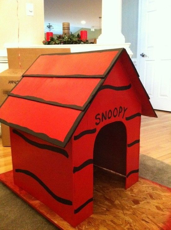 A Wooden Snoopy Dog House Fort For Sammy In The Backyard Snoopy