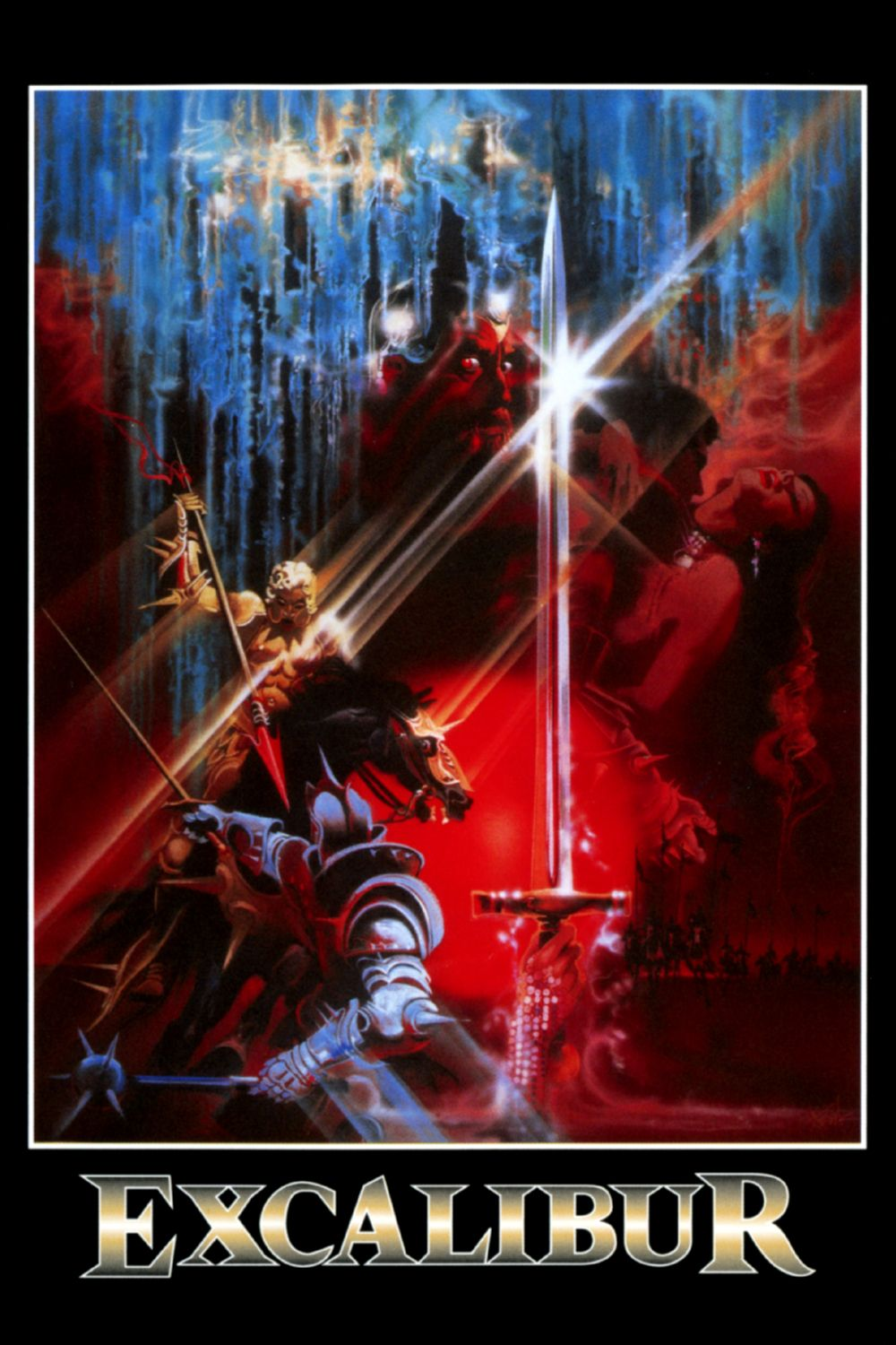 Excalibur Movie poster art, Bob peak, Poster art