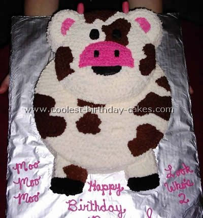 Groovy Coolest Cow Cakes And Birthday Cake Picture Gallery Cow Birthday Funny Birthday Cards Online Overcheapnameinfo