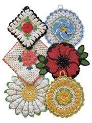 Vintage Floral Pot Holder Pattern Pack