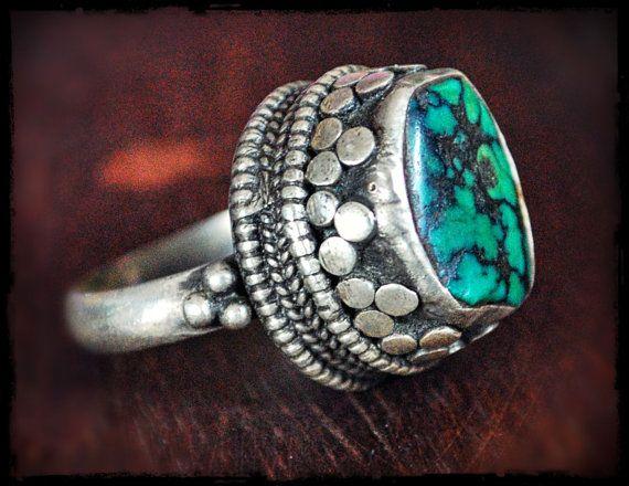 Tibetan Turquoise Rings