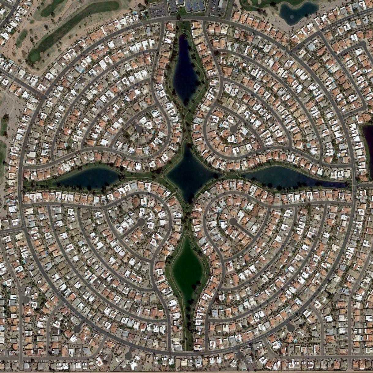 Urban View: Aerial View Of Sun Lakes, Arizona
