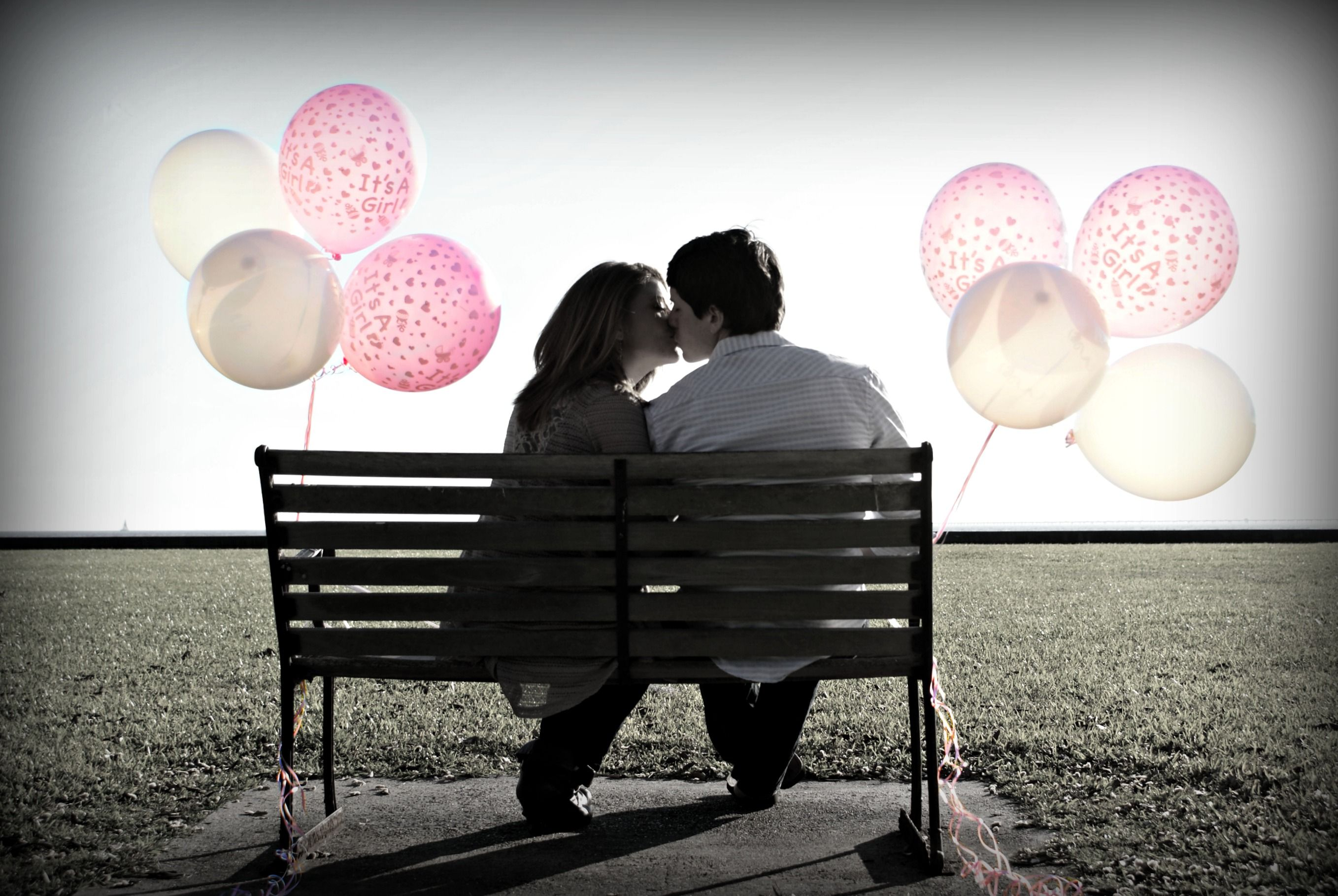 Gender Reveal Picture .. Identical Girls :)