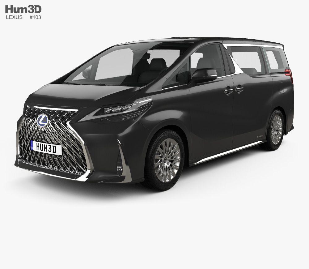 3d Model Of Lexus Lm Hybrid 2019 Lexus 3d Model Lexus Gx