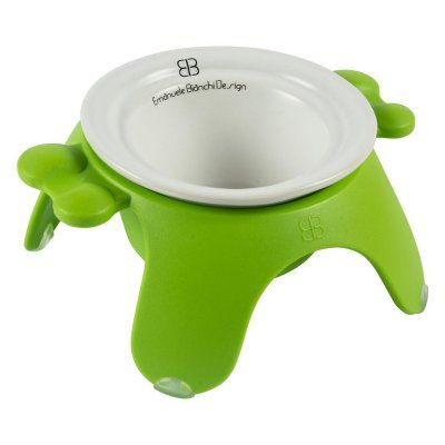 Pet Ego Yoga Pet Bowl with Tulip Ceramic Dish Green - PEG333-13