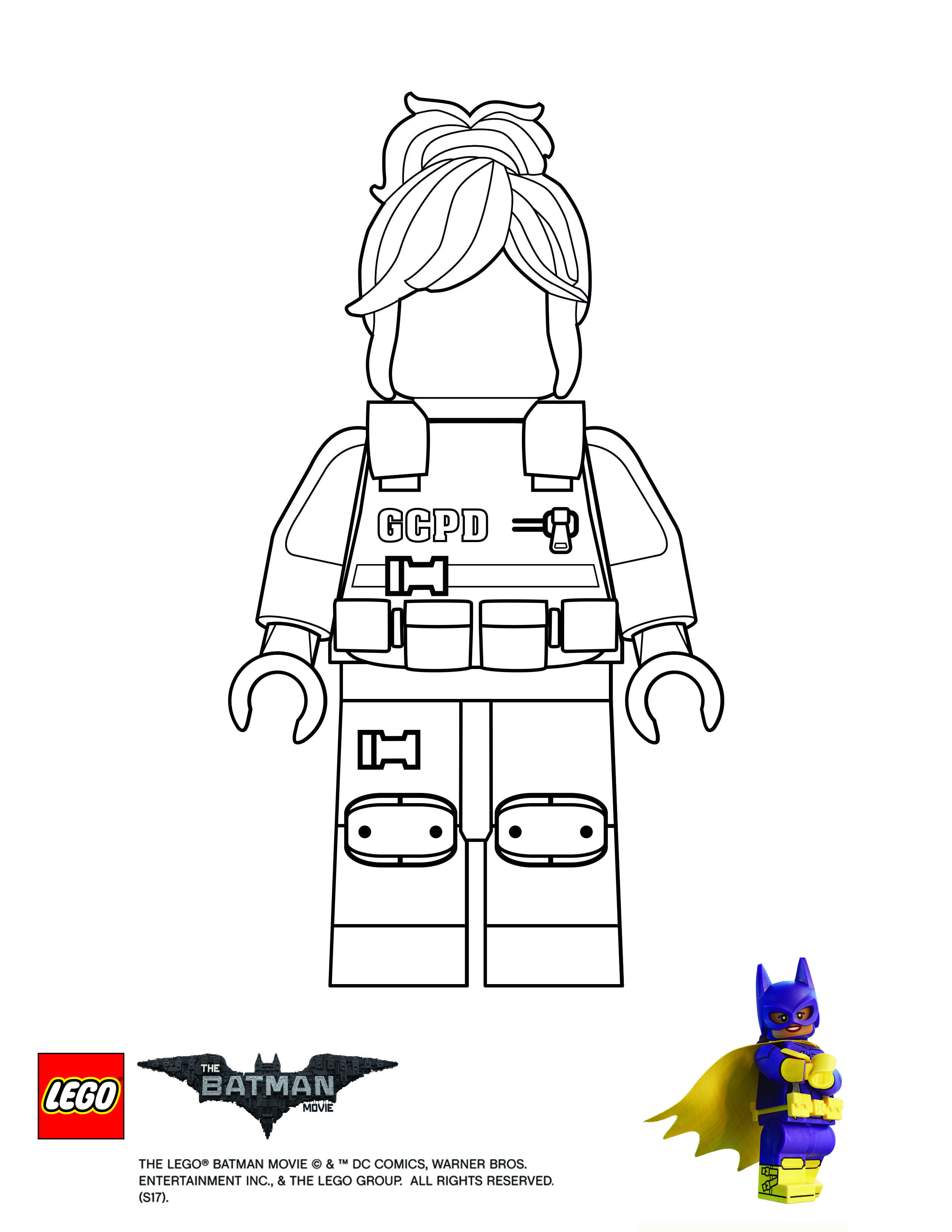 Finish Drawing Barbara Gordon With Images Lego Coloring Pages