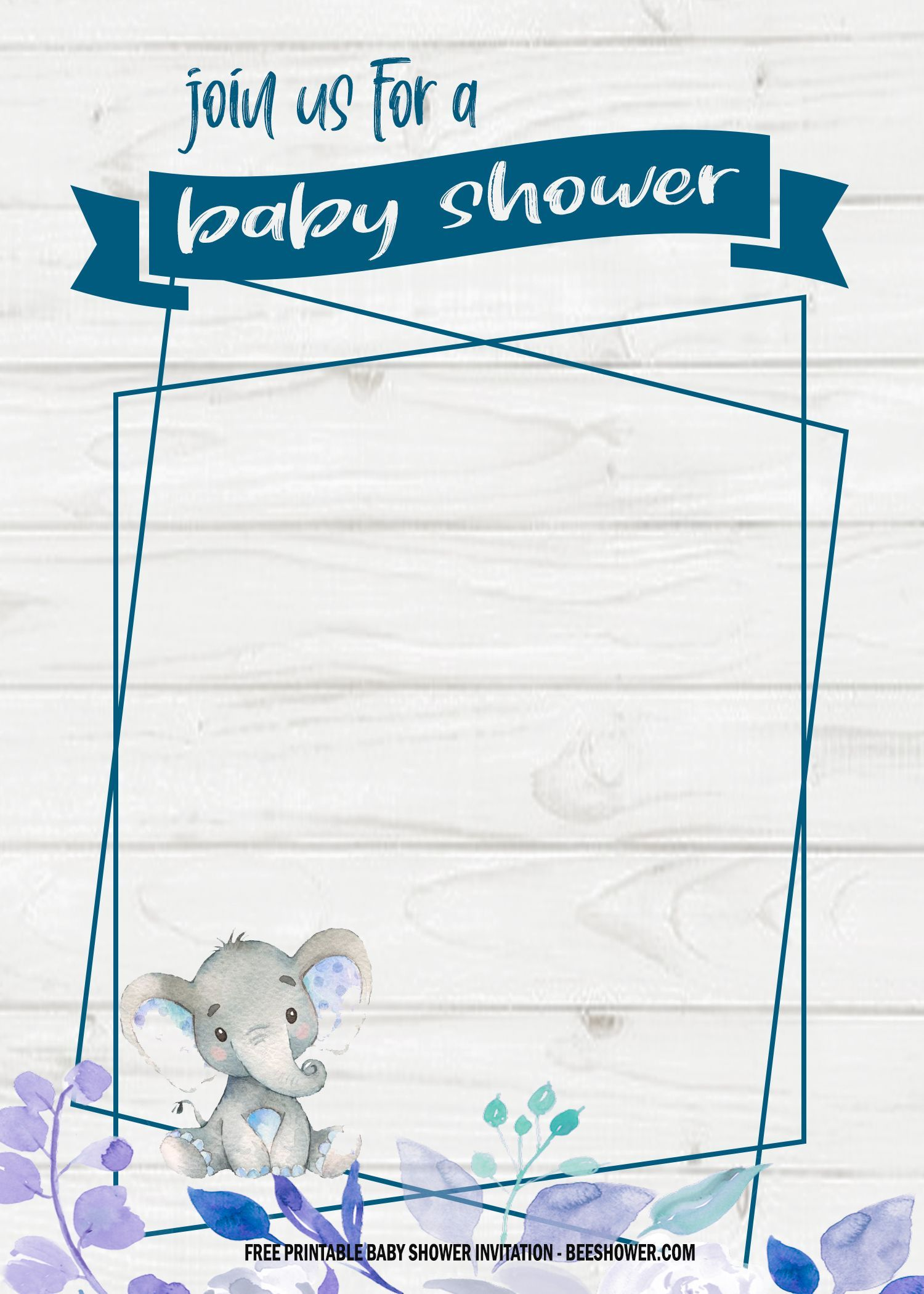 6 Free Blue Elephant Themed Birthday And Baby Shower Invitation Templates Free Printable Baby Shower Invitations Free Baby Shower Invitations Boy Baby Shower Invitations Templates