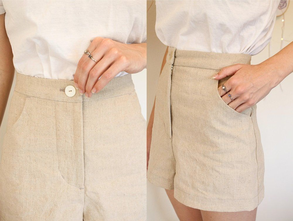 Linen Shorts from a free Trouser Pattern