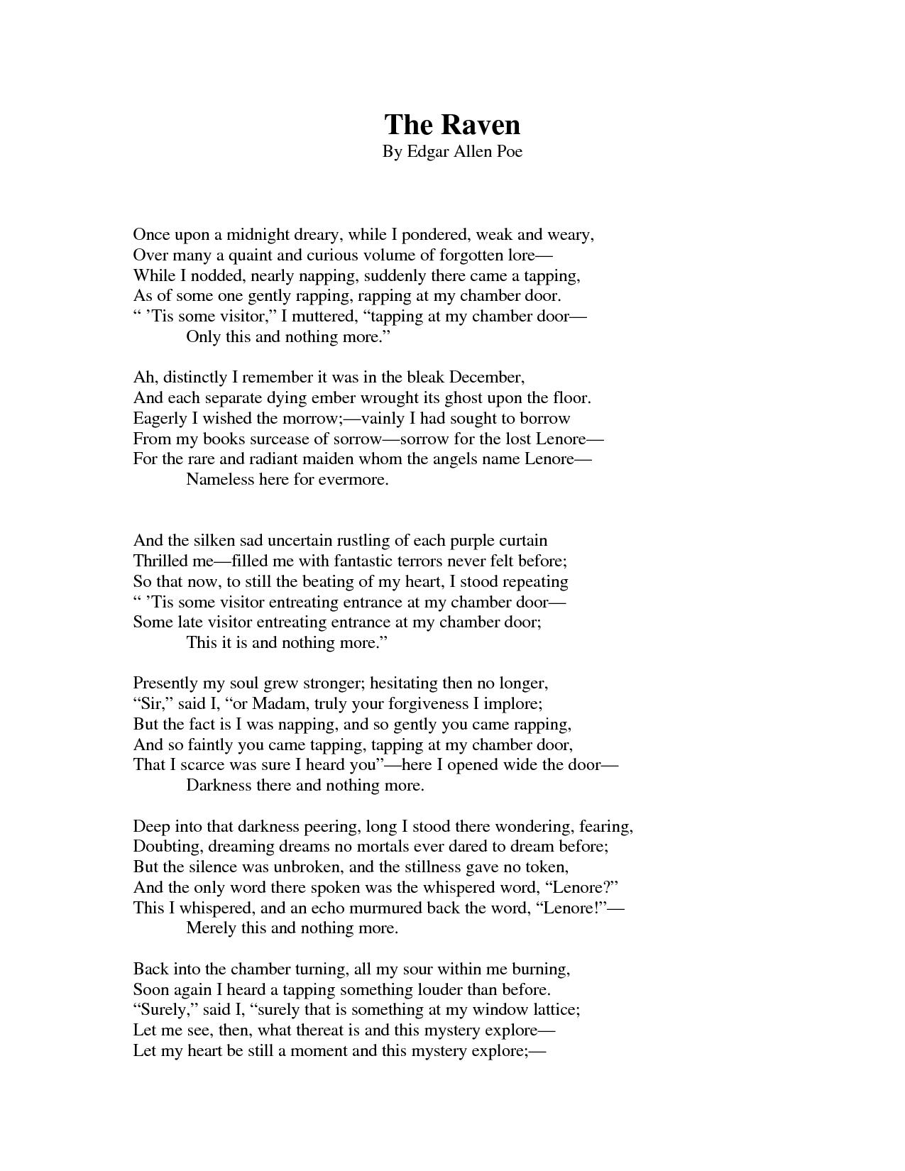 the raven poem