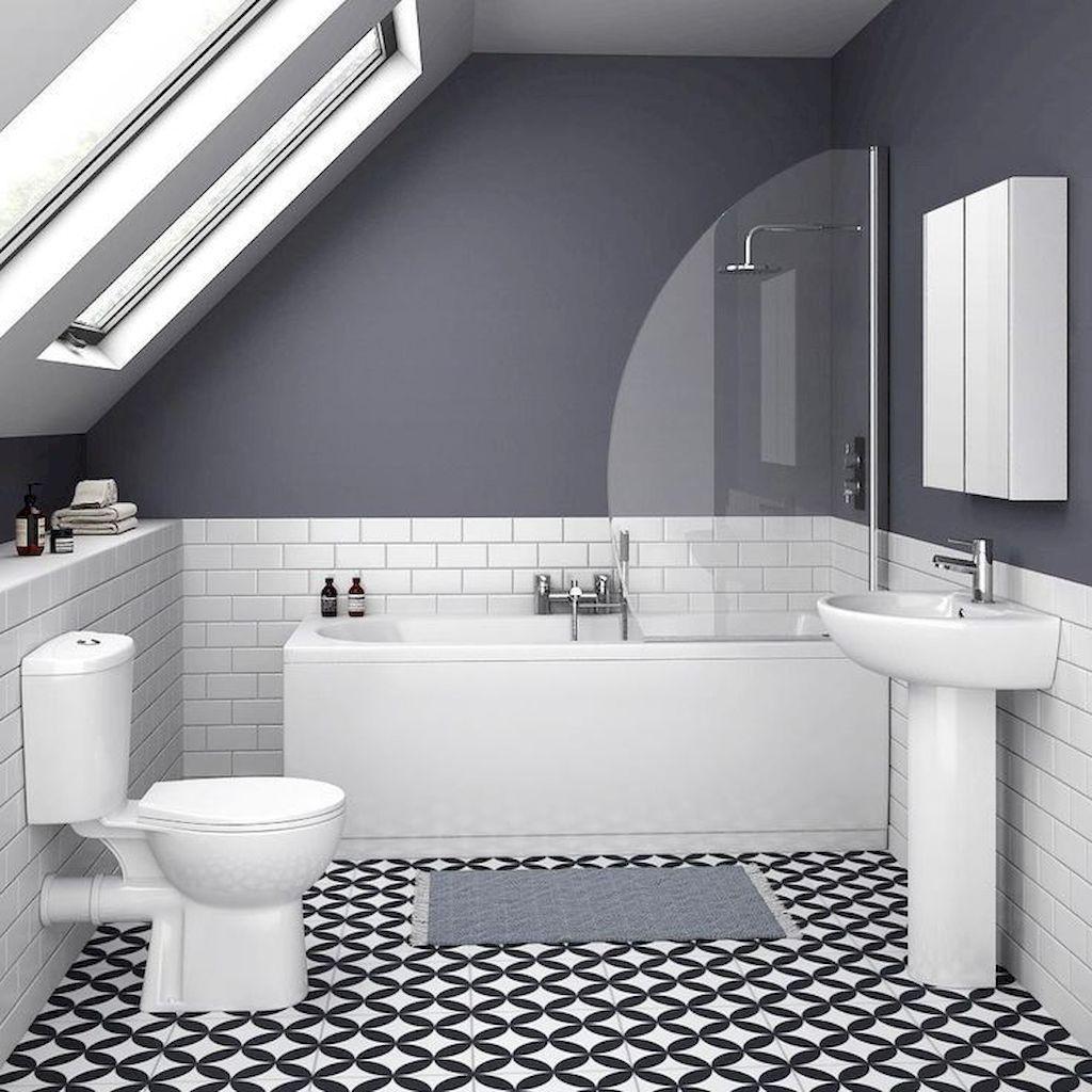 93 cool black and white bathroom design ideas 6 small on bathroom renovation ideas white id=87227