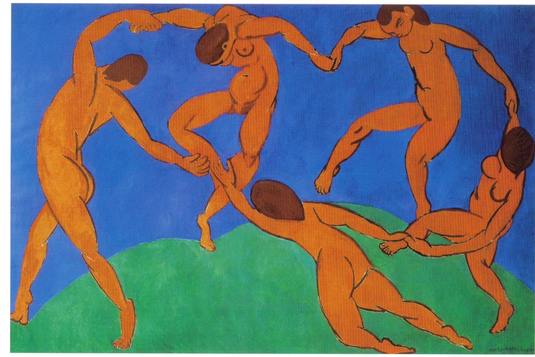 Henri Matisse - La Danza II (1910). Fauvismo. Óleo sobre tela de 260 x 391 cm. Museo del Hermitage (San Petesburgo), Rusia