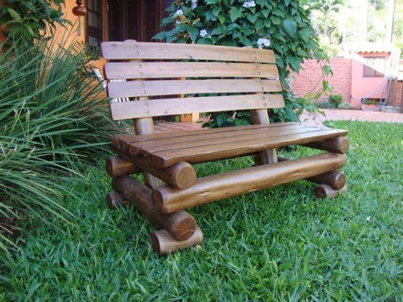 bancos de eucalipto rustico - Pesquisa Google | Garden Ideas | Pinterest
