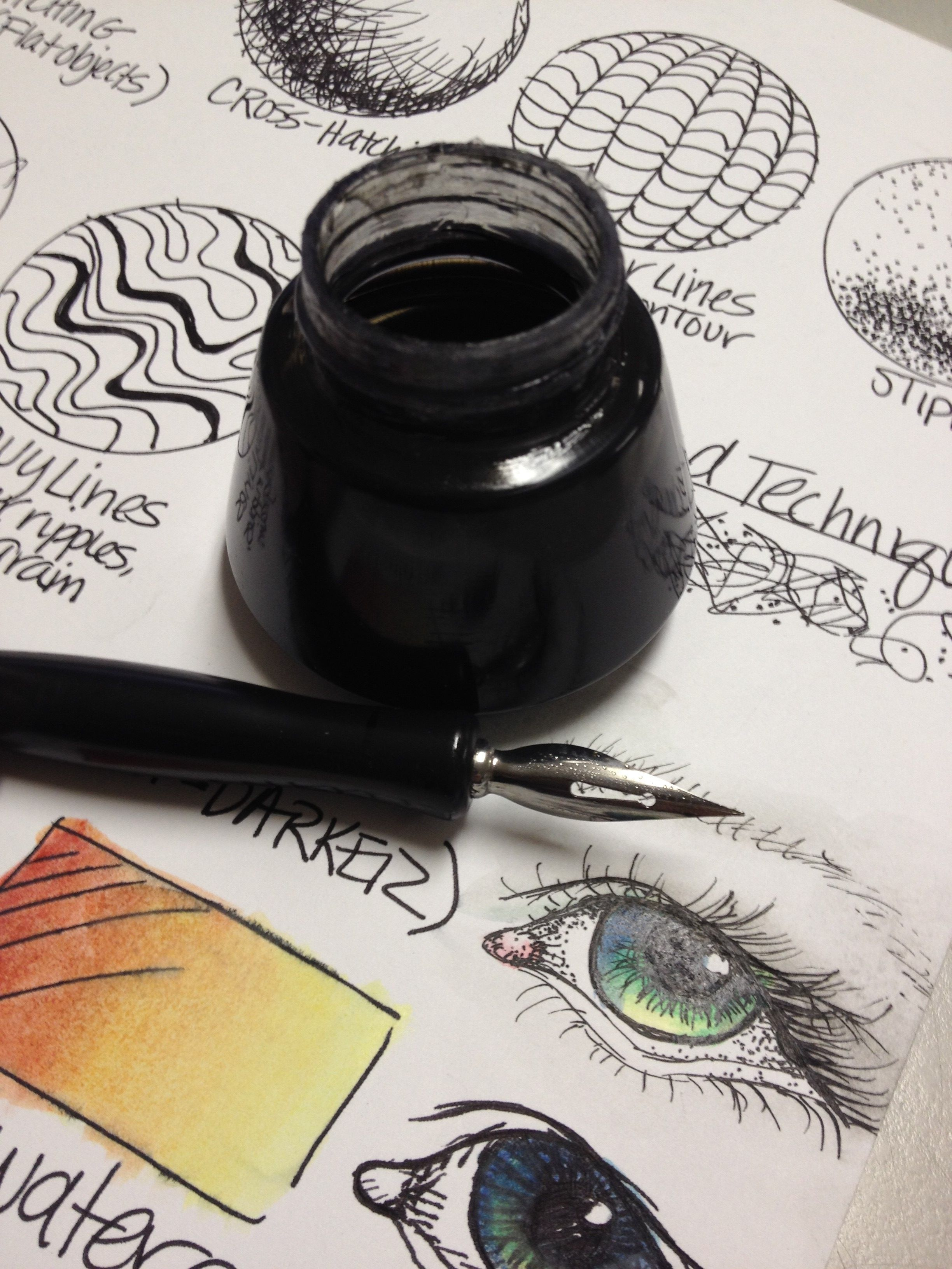 Pen Amp Ink Techniques Lesson Plan Amp Worksheet