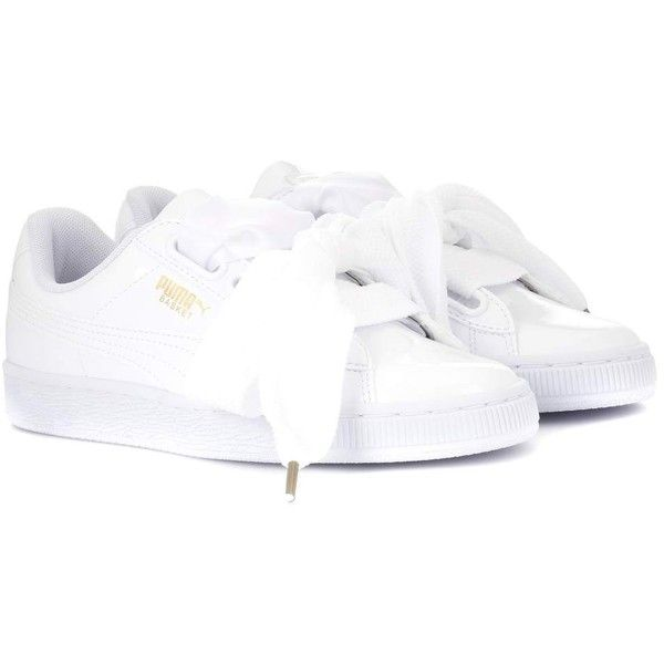 newest collection 0110a bc947 Puma Basket Heart Patent Sneakers ($105) ❤ liked on ...