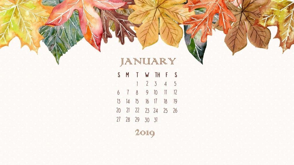 Cute January 2019 Calendar Wallpaper Calendar Wallpaper Desktop Wallpaper Calendar Nature Desktop Wallpaper