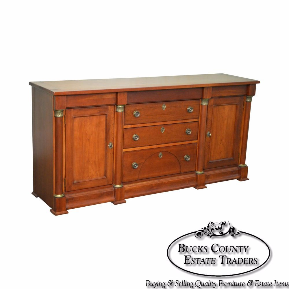 Lexington Cherry Empire Style Sideboard Buffet Cabinet