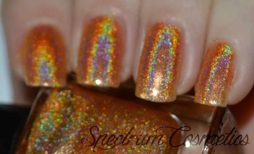 HUNTSMAN Linear Holographic Orange Nail Polish by SpectrumCosmetic on Etsy https://www.etsy.com/listing/221003137/huntsman-linear-holographic-orange-nail