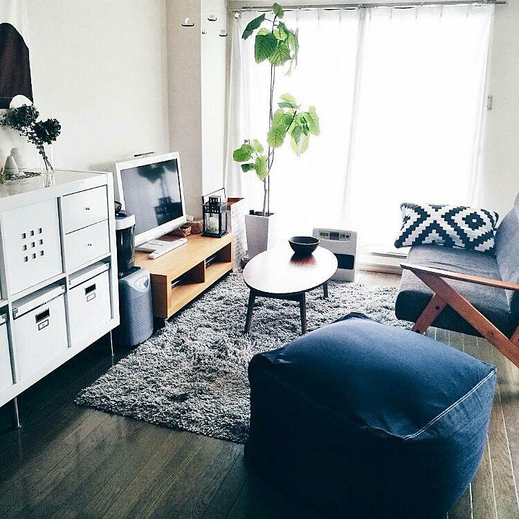 IKEA/賃貸インテリア/体にフィットするソファ/無印良品/シンプルインテリア
