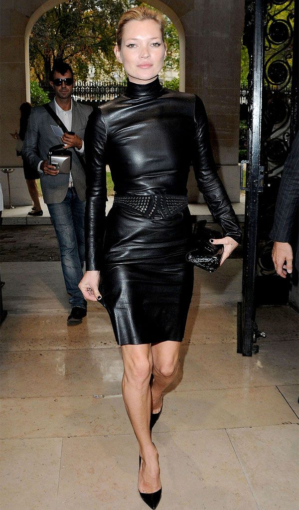 Leather Kate moss
