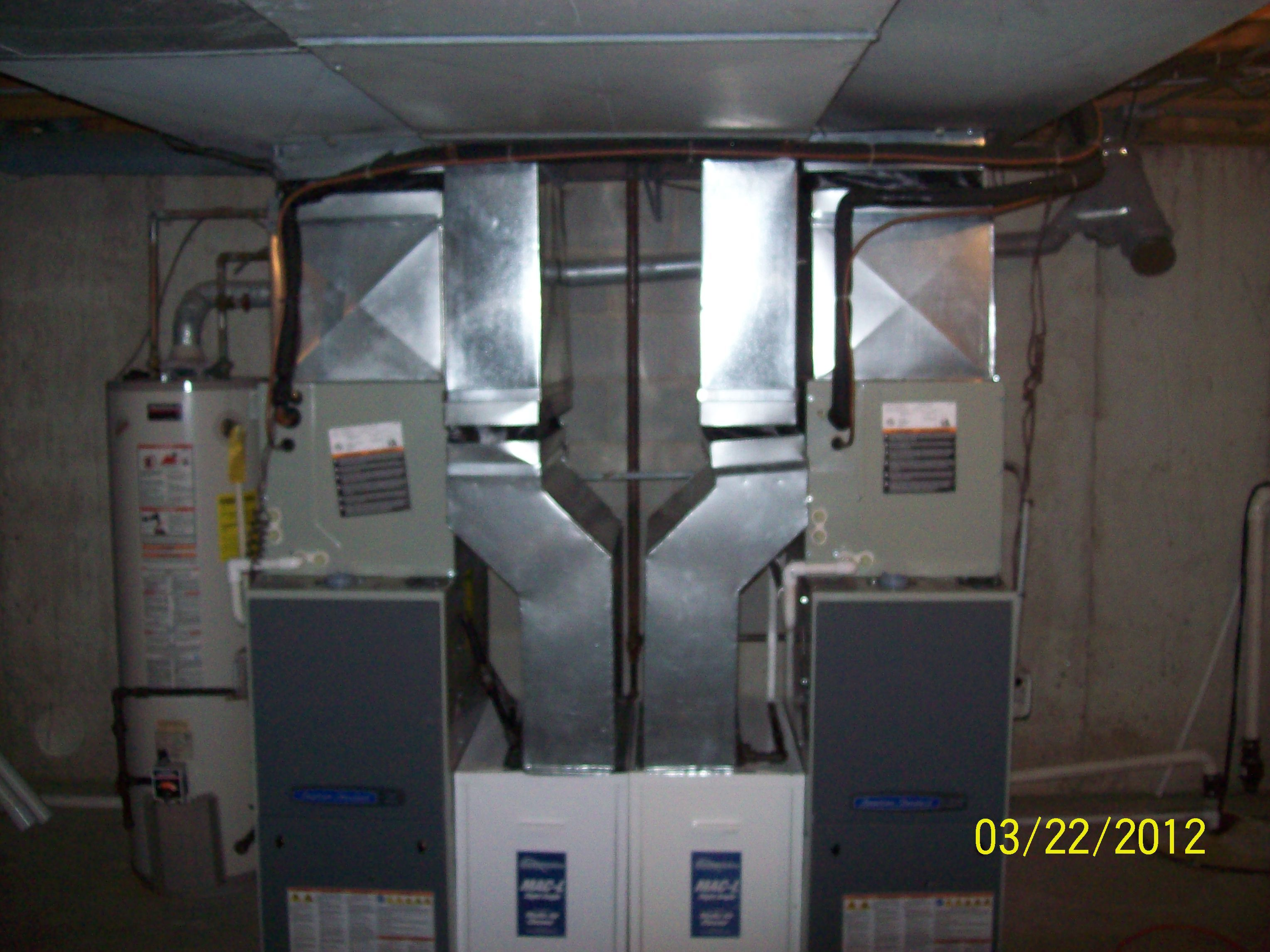 High Efficient Furnaces Installed In A Residence Heatingandcoolingtinleyparkil Heating Repair Furnace Installation Heating And Cooling