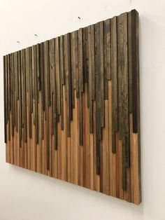 Arte de pared - Arte de pared de madera - Escultura de madera rústica - Instalación de pared - Arte 3D - 46x36