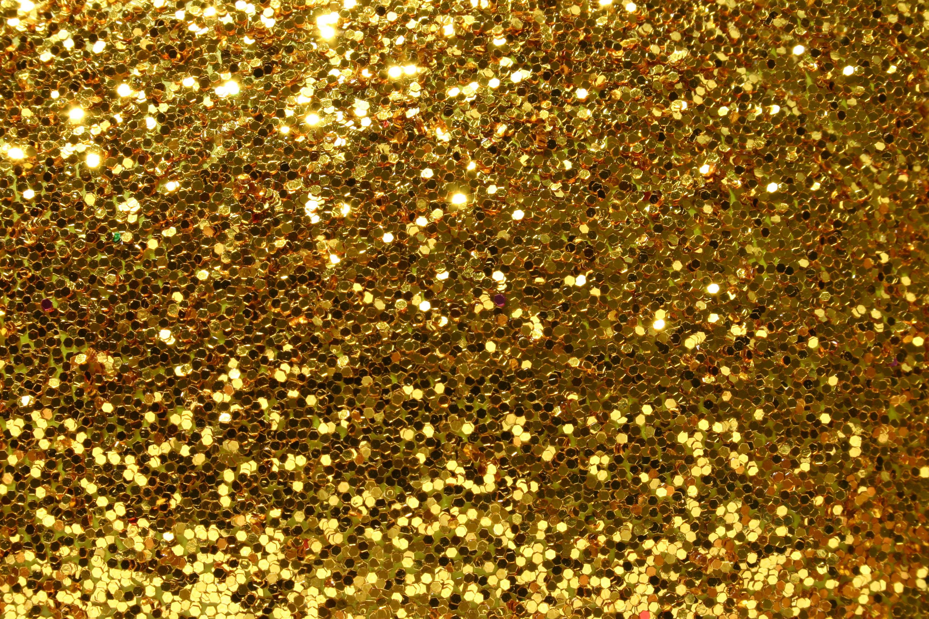 Beautiful Golden Glitter Background Gold glitter