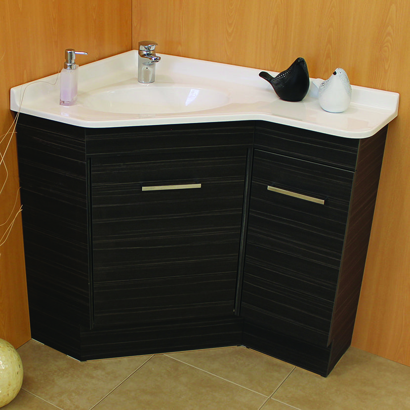 Corner Bathroom Vanity With Images